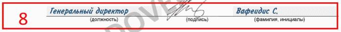 Подпись руководителя организации
