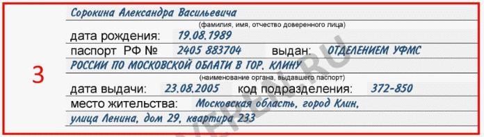 Информация о представителе